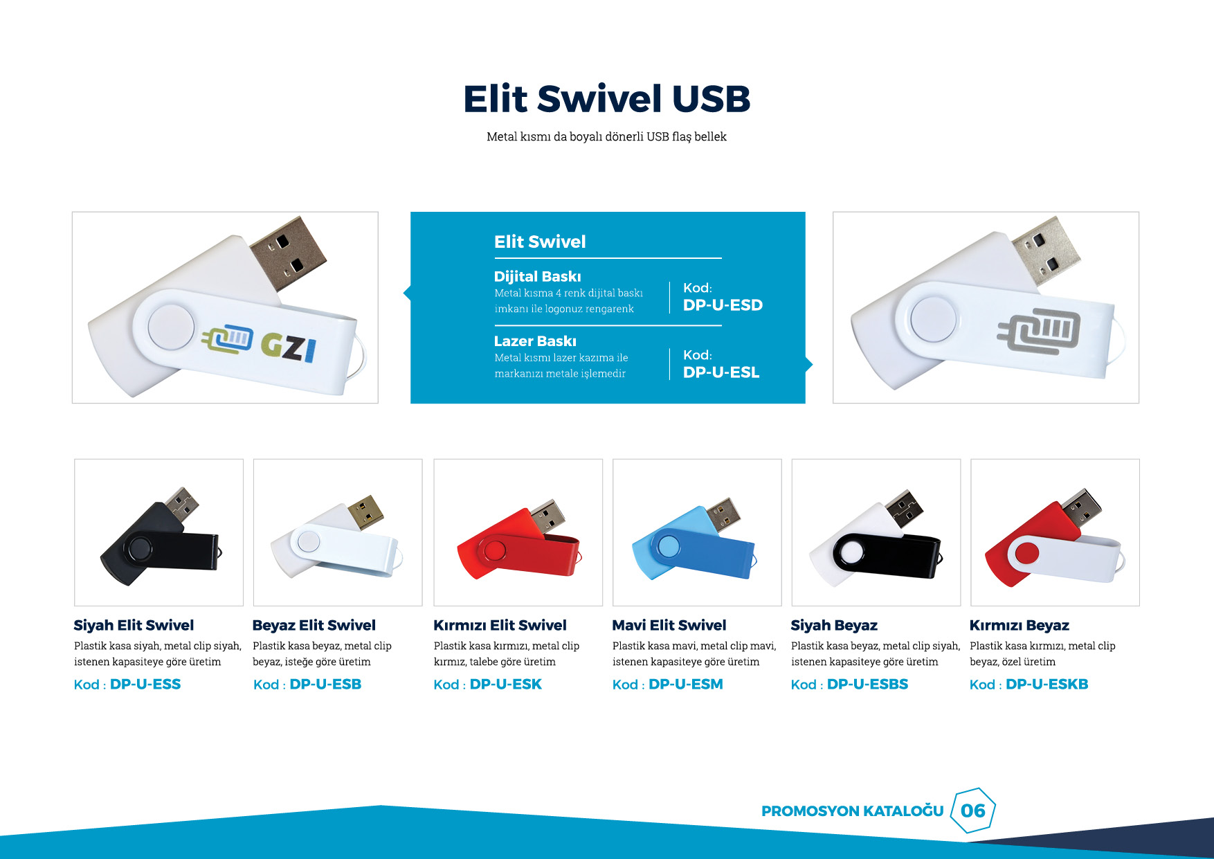 elit swivel usb
